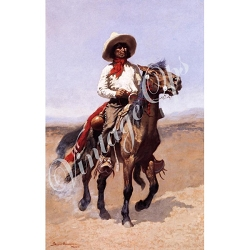 Sierra Valley Flour Sack Towel  | A Regimental Scout [1889] by Frederick Remington