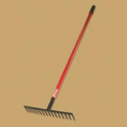 "Bully Tools  16"" Level Head Rake  Fiberglass Handle"