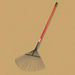 "Bully Tools 24"" Lawn and Leaf Rake Fiberglass Handle"