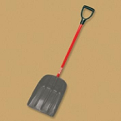 Bully Tools AlumiNy Mulch/Snow Scoop D-Grip Fiberglass Handle