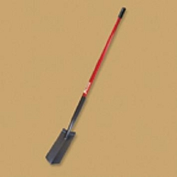 "Bully Tools 4"" Trench Shovel - Long Handle Fiberglass Handle"
