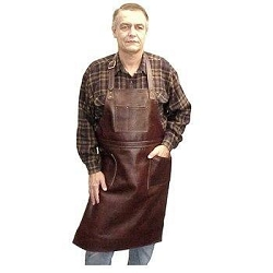 Sierra Valley Leather Shop Apron    Over Neck Long Pocketed