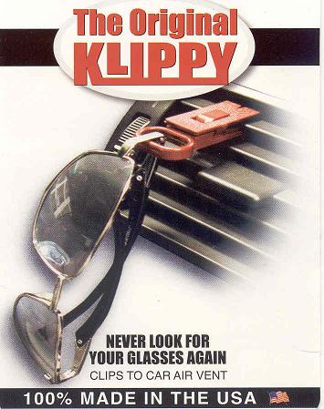 KLIPPY AIR VENT SUNGLASS HOLDER  FREE SHIPPING