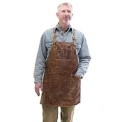 Sierra Valley Leather Shop Apron,  Cross-Back Pocketed