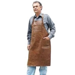 Sierra Valley Leather Shop Apron Cross Back Pocketed Long