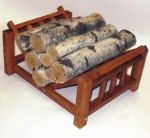 SIERRA VALLEY MISSION STYLE LOG RACK
