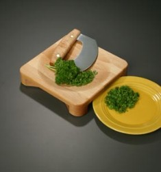 Sierra Valley Herb Bowl with Mezzaluna Chopper