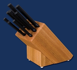 Sierra Valley Colossal Oak Block Set Black Handle