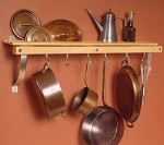 SIERRA VALLEY Wall Mounted Pot Rack PRW-01-natural-