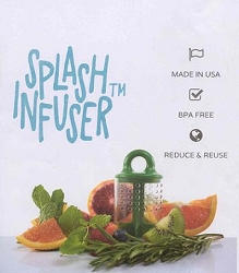 SPLASH INFUSER; INSTANT, NATURAL INFUSION FOR WATER AND COCKTAILS