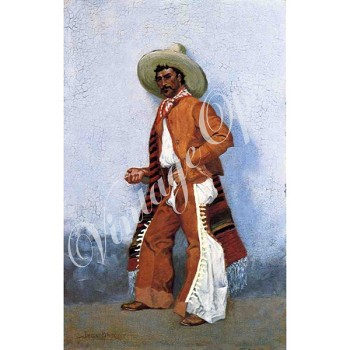 Sierra Valley Flour Sack Towel | A Vaquero by Frederick Remington