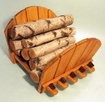 SIERRA VALLEY ADIRONDACK LOG RACK