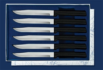 Sierra Valley Six Utility/Steak Knives Gift Set (Black Handle)