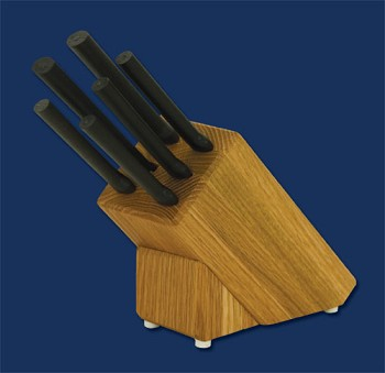 Sierra Valley Creative Cuts Oak Block Set (Black Handle)