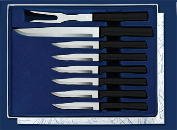 Sierra Valley  Meat Lover's Gift Set (Black Handle)