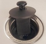SIERRA VALLEY SCRAPPER GARBAGE DISPOSAL SINK STOPPER AND SCRAPER - BLACK