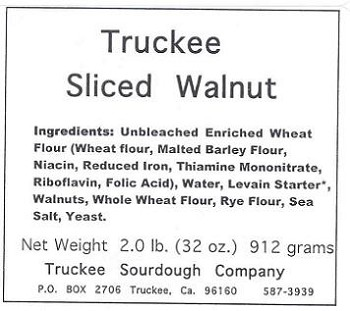 Truckee Sourdough Sliced Walnut Sourdough Loaf Free shipping