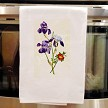 Sierra Valley Flour Sack Towel  |  Iris Germanica and Briar Rose FREE SHIPPING